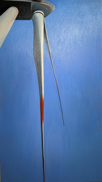 Nr. 25 Windmesser 2017 Öl a. Lw. 110 x 60 cm