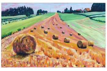 Nr. 4 Pinky Strohrund 2016 Öl a. Lw. 50 x 80 cm