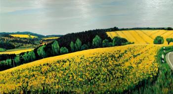 Nr. 24 Rapsfelder 2015 Öl a. Lw. 60 x 110 cm