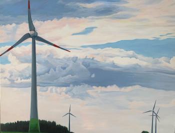 Nr. 3  4 Windräder 2012 Öl a. Lw. 70 x 90 cm