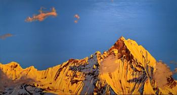 Nr. 18 Machapuchare I 2011 Öl a. Lw. 60 x 110 cm