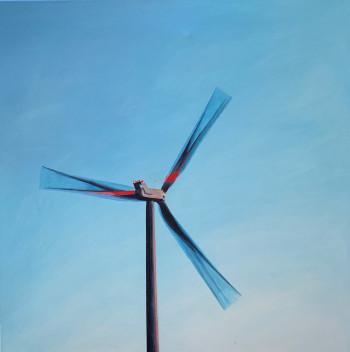 Nr. 2 Looming Turbine 2017 Öl a. Lw. 70 x 70 cm
