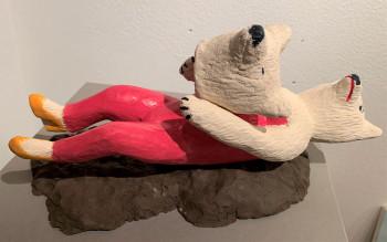 Nr. 12 Eigentrophäe haut um! ( Alten Kopf abgeben ) 2021 Verschiedene Keramik 35 cm