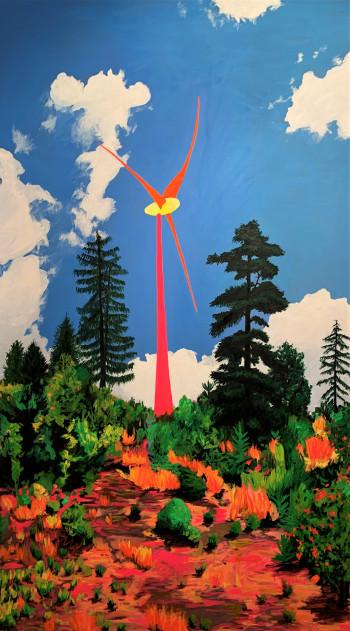 Nr. 26 Looming Windsäbler 2017 Öl a. Lw. 130 x 75 cm