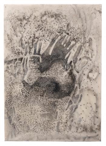 Nr. 3 o.T. 2021 Wachs, Öl a. Papier 42 x 29,5 cm