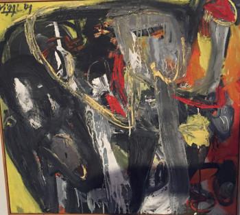Nr. 7 Gesäusel 1991 Öl Nessel    60 x 65 cm