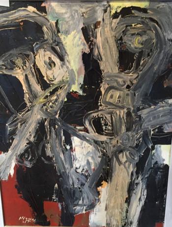 Nr. 18 Pärchen 1996 Öl Hartfaser 85 x 65 cm