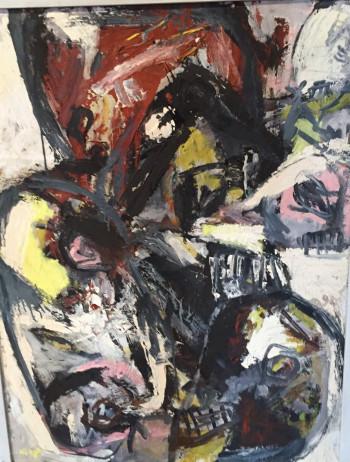 Nr. 17 Palaver 1996 Öl Hartfaser 85 x 65 cm